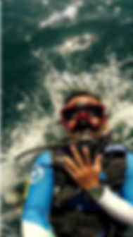 scuba diver backroll langkawi scuba