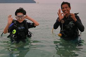 kids diving at langkawi scuba