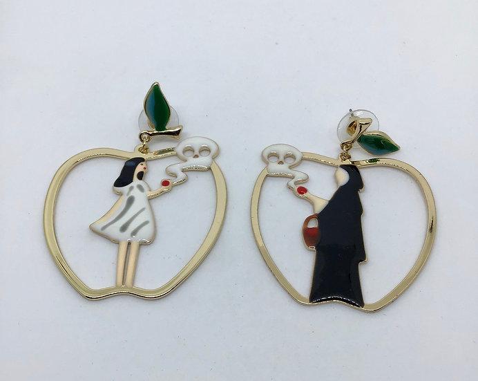 Snow White inspired earrings