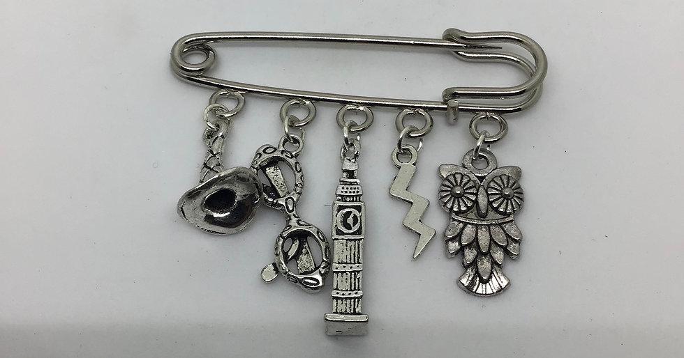 Harry Potter inspired fairytale kilt pin brooch