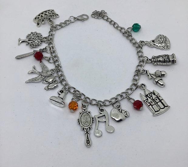 Snow White inspired charm bracelet