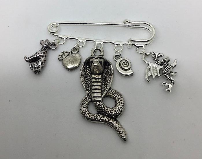 Villains inspired kilt pin brooch