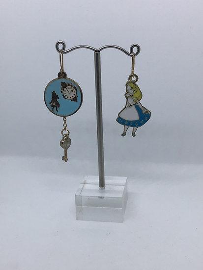 Alice & Clock earrings