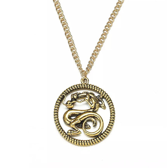 Mulans' Mushu Dragon pendant necklace