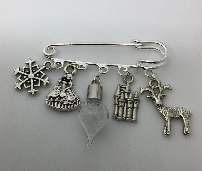 Frozen inspired kilt pin brooch