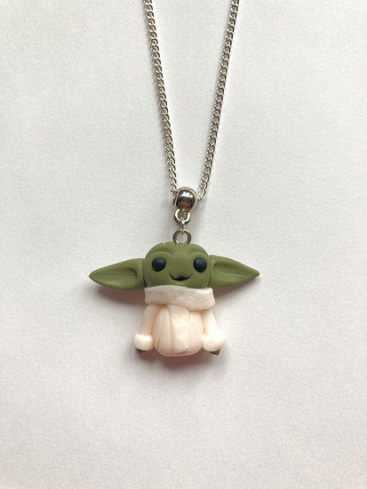 Baby Yoda inspired necklace