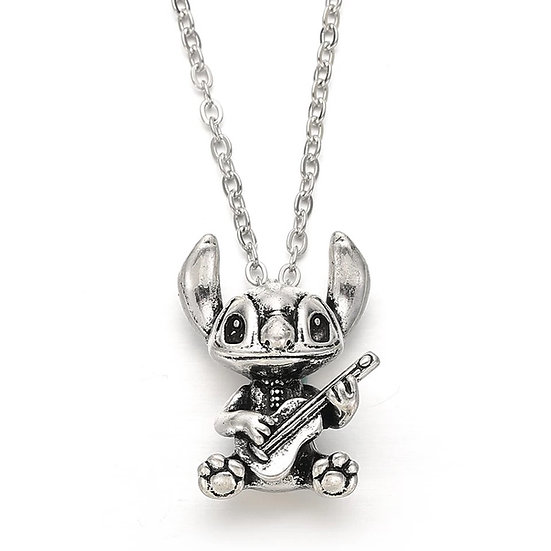 Stitch with his guitar Necklace