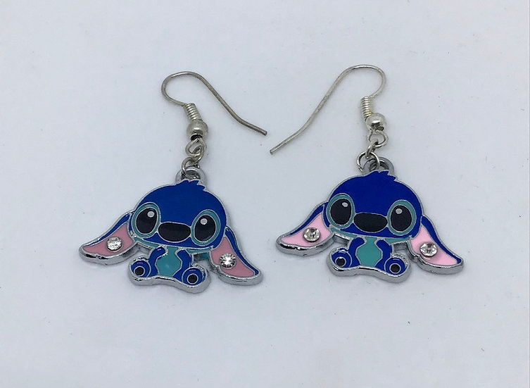 Stitch enamel earrings