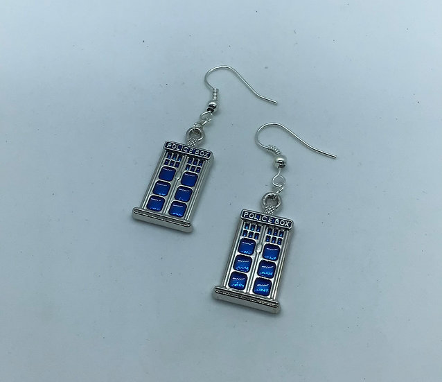 Police Box earrings