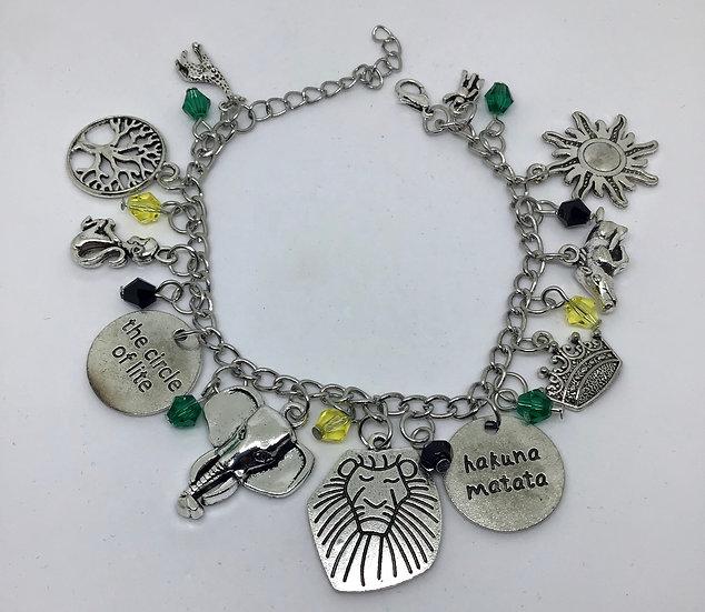 The Lion King inspired charm bracelet