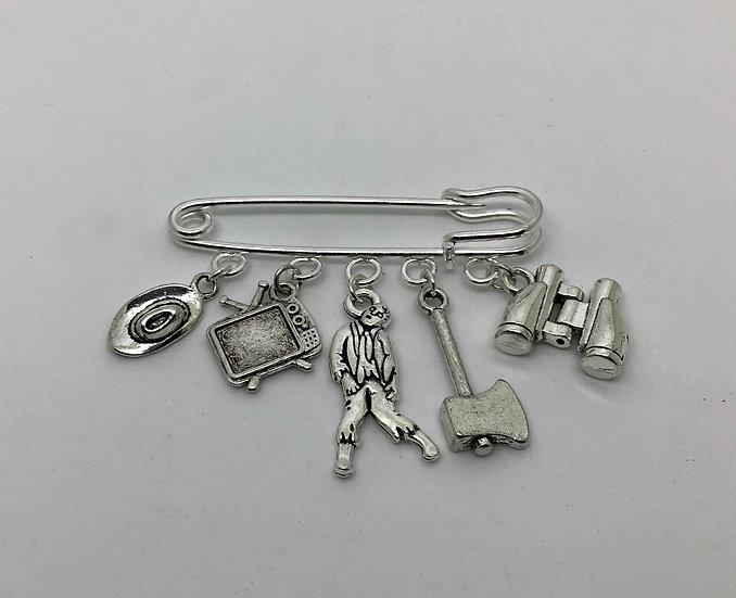 The Walking Dead inspired kilt pin brooch