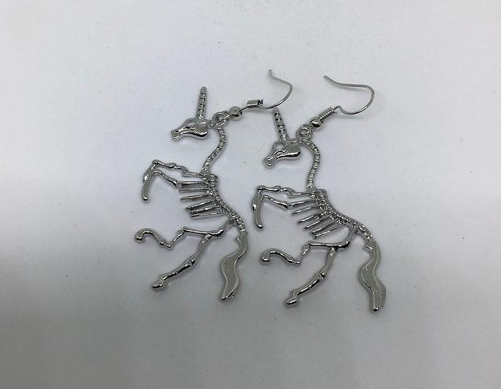 Skelton Unicorn Earrings