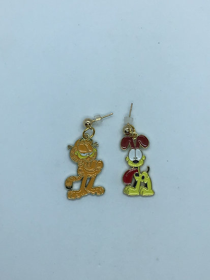 Garfield and Odie  inspired earrings