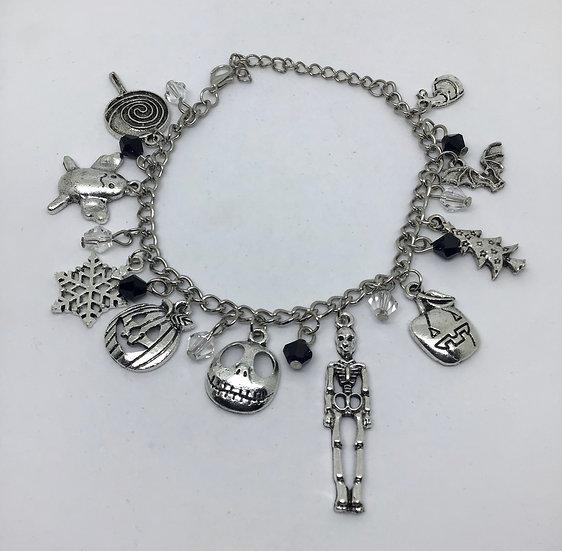Jack Skellington inspired charm bracelet