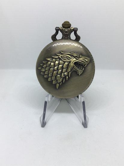Wolf Head Pocket Watch
