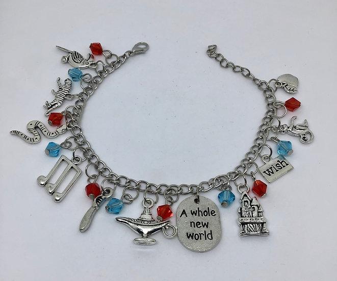 Aladdin inspired charm bracelet