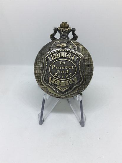 Police Badge Pocket Watch