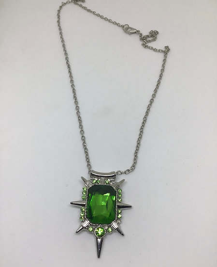 Emerald green pendant, inspired by the wicked witch of the West
