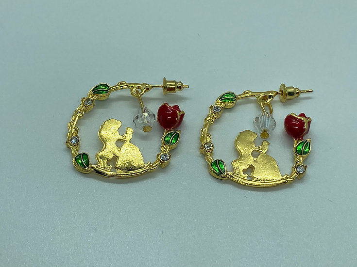 Beauty and the Beast inspired earrings
