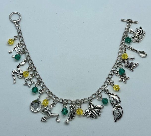 The Princess and the frog inspired charm bracelet