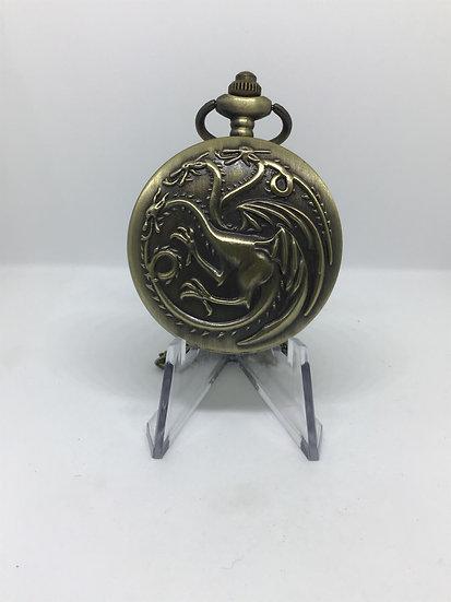 Dragon Full Hunter Pocket Watch