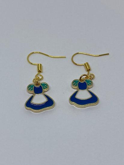 Alice in Wonderland Dress Earrings