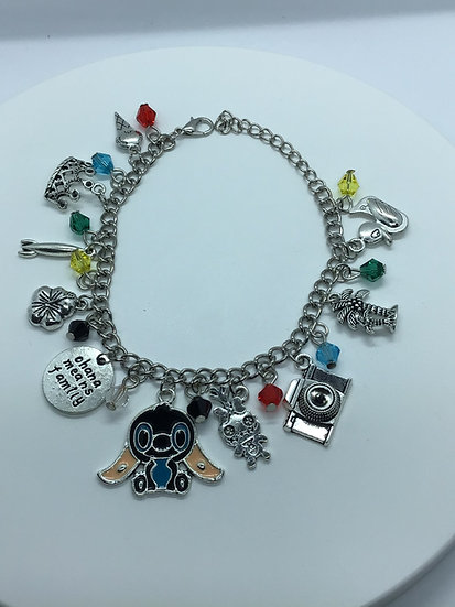Stitch inspired charm bracelet