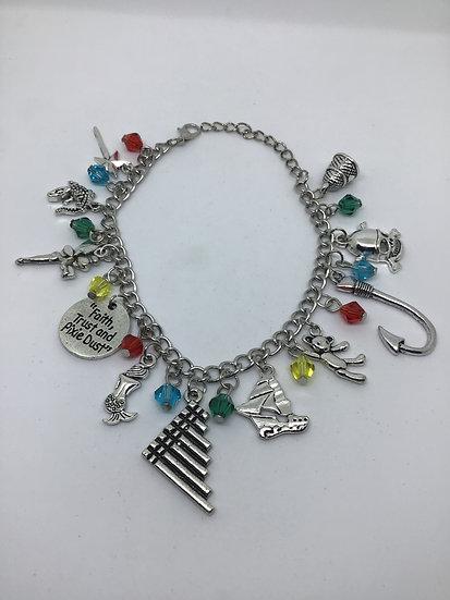 Peter Pan inspired charm bracelet