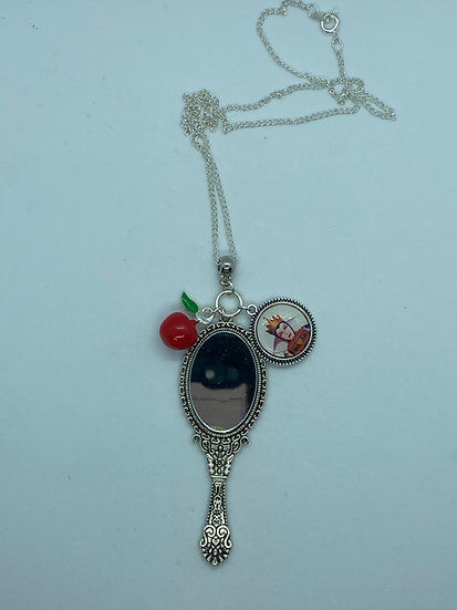 Evil Queen Mirror and Apple necklace