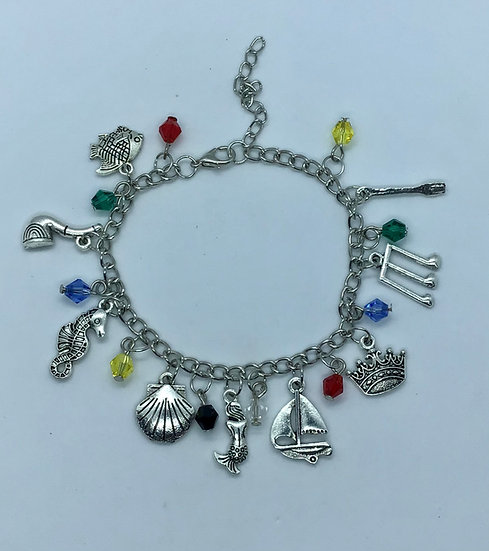 The Little Mermaid Inspired Charm Bracelet