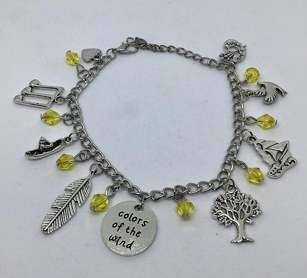Pocahontas inspired charm bracelet