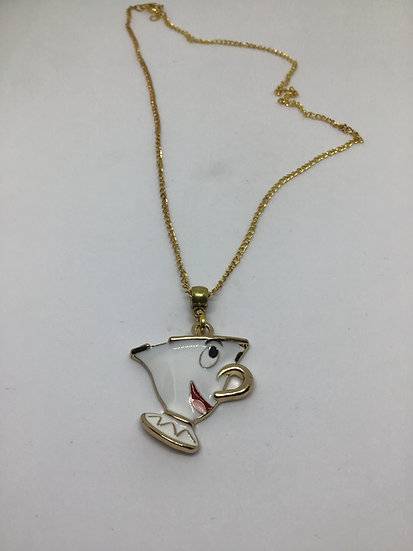Chip Teacup pendant necklace