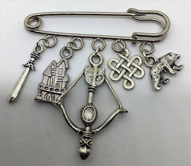 Brave inspired fairytale kilt pin brooch