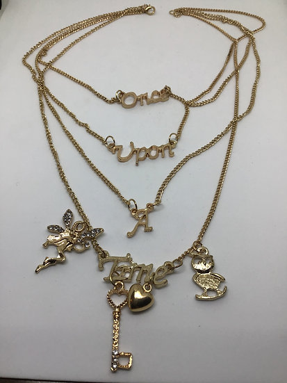 Once upon a time gold coloured necklace