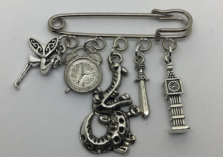 Peter Pan inspired fairytale kilt pin