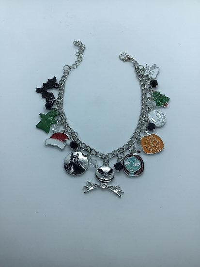 Nightmare before Christmas Charm Bracelet