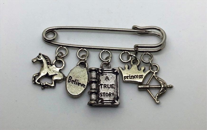 Never Ending Story inspired kilt pin