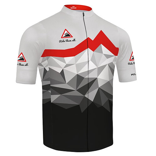 ALL NEW 100 Climbs Jersey. Mens and Womens fit.