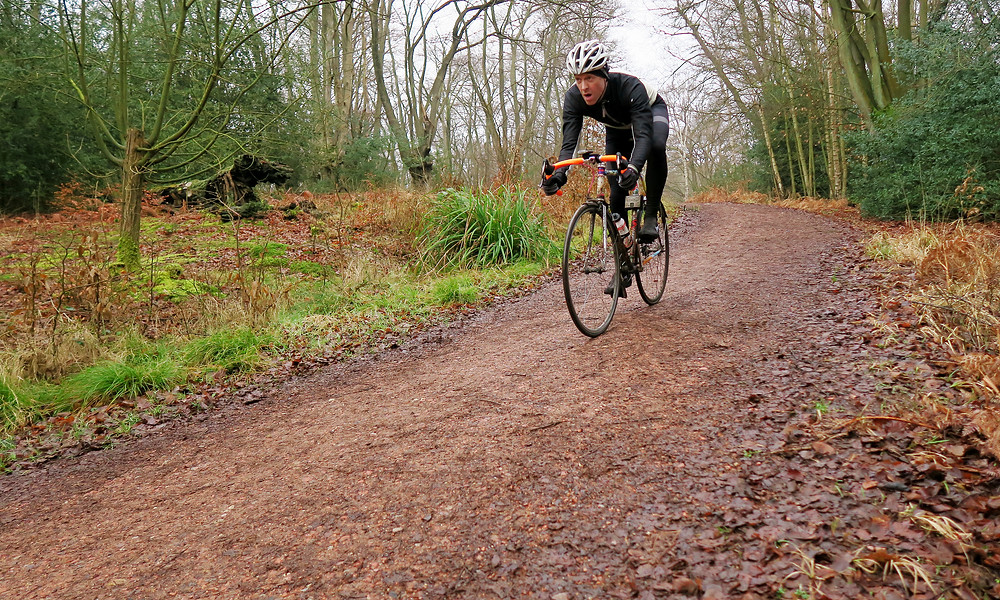 Test of nerves downhill on a fixed with very little braking