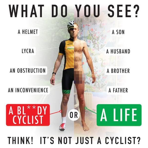 I am not a cyclist, I am a human being.