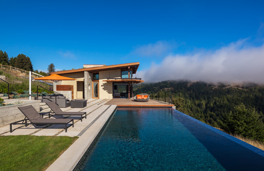 a pool house in the clouds