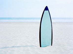 Standing Surfboard