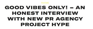 project hype PR agency Interview Panorama Cosmos