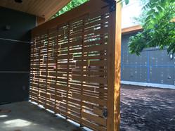 decorative custom wood fence design