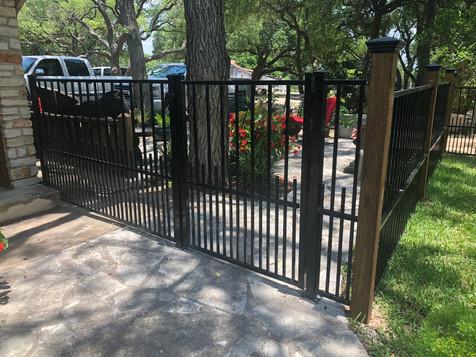 wrought iron gate residential austin tx