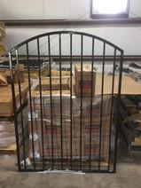 custom ornamental wrought iron gate installation