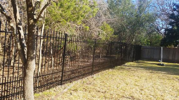 Custom ornamental iron fence austin