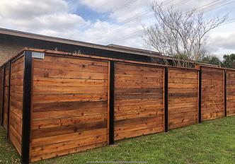 backyard horizontal privacy fence austin