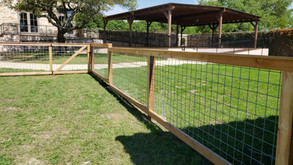 residential bull wire fencing corner det