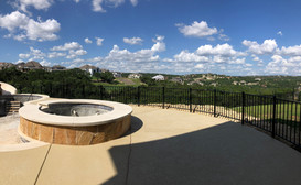 custom iron railing and fence for residential pool deck austin tx